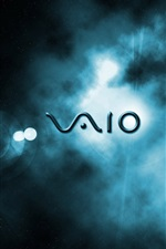 Preview iPhone wallpaper Sony Vaio logo, space background