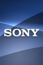 Sony logotipo, fundo abstrato