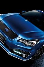 Subaru Impreza sport hybrid blue car at night