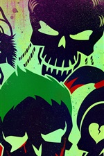 Preview iPhone wallpaper Suicide Squad, 2016 movie art