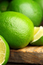 Preview iPhone wallpaper Summer fruits, green lime citrus