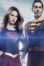 Preview iPhone wallpaper Supergirl and Superman, TV series