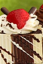 Preview iPhone wallpaper Sweet cakes, cream, strawberries, delicious food