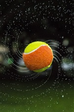 Tennis, ball, flight, water splash
