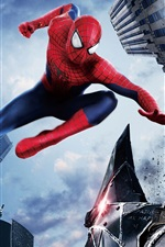 Preview iPhone wallpaper The Amazing Spider Man 2, city, hero