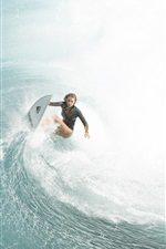 Preview iPhone wallpaper The Shallows, Blake Lively, Nancy, sea surfer, 2016 movie
