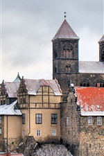 Travel to Germany, Quedlinburg, castle, house
