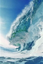 Preview iPhone wallpaper Turbulent sea waves, foam, water splash