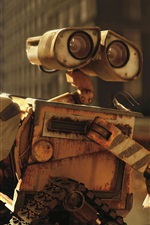 Preview iPhone wallpaper Wall E robot, classic movie