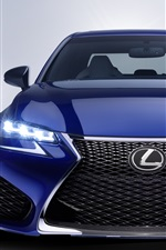 Preview iPhone wallpaper 2016 Lexus GS blue car front view, lights