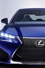 2016 Lexus GS blue car front view, lights