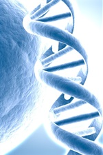 Preview iPhone wallpaper 3D DNA picture