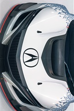 Preview iPhone wallpaper Acura NSX GT3 supercar front top view