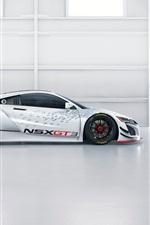 미리보기 iPhone 배경 화면 아큐라 NSX GT3 흰색 초차 측면보기