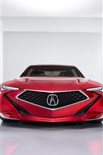 Preview iPhone wallpaper Acura Precision Concept red car front view