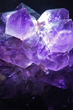 Preview iPhone wallpaper Amethyst, black background