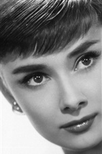 Preview iPhone wallpaper Audrey Hepburn 02