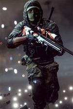 Preview iPhone wallpaper Battlefield 1, sniper running at night