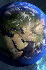 iPhone обои Красивая голубая планета, Земля