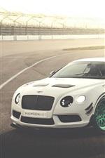 미리보기 iPhone 배경 화면 벤틀리 콘티넨탈 GT3-R 흰색 자동차 경주