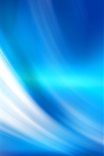 Preview iPhone wallpaper Blue curves, abstract background