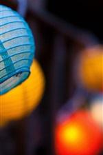 Preview iPhone wallpaper Blue lantern, night, glare