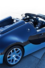 Preview iPhone wallpaper Bugatti Veyron blue roadster
