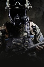 Preview iPhone wallpaper CS: GO, soldier