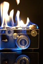Preview iPhone wallpaper Camera flames, fire, creative pictures