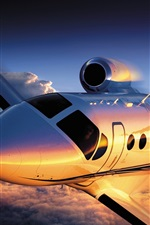 Preview iPhone wallpaper Cessna Citation 4 airplane flight
