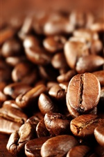 Preview iPhone wallpaper Coffee beans macro photography