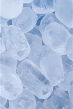 Preview iPhone wallpaper Cold ice cubes