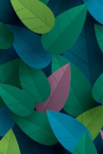 Preview iPhone wallpaper Colorful leaves, art design