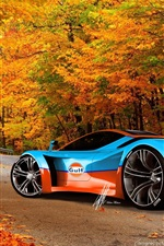 Preview iPhone wallpaper Cool Ferrari supercar in autumn