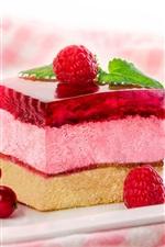 Preview iPhone wallpaper Dessert, cake, berries