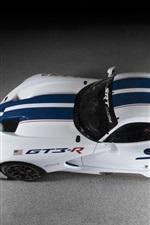 Preview iPhone wallpaper Dodge SRT Viper GT3-R race car top view
