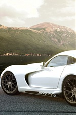 미리보기 iPhone 배경 화면 닷지 SRT 바이퍼는 흰색 자동차 후면보기를 GTS