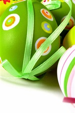 Preview iPhone wallpaper Easter eggs, colorful, decoration, spring