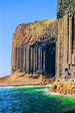 Preview iPhone wallpaper Fingal's Cave, Inner Hebrides of Scotland, sea, cliff
