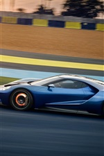 Preview iPhone wallpaper Ford GT 2017 supercar high speed