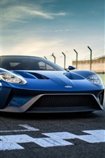 Preview iPhone wallpaper Ford GT II blue supercar front view