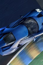 Ford GT II blue supercar top view