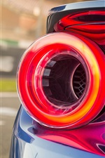 Ford GT II supercar brake light close-up