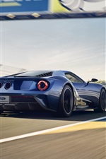 Preview iPhone wallpaper Ford GT II supercar in the race, back view