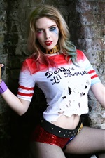Preview iPhone wallpaper Harley Quinn, cosplay girl
