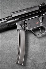 Preview iPhone wallpaper Heckler Koch MP5, modern firearms, guns