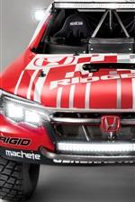 Preview iPhone wallpaper Honda Ridgeline Baja Race Truck front view