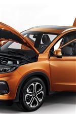 Preview iPhone wallpaper Honda XR-V orange SUV car, all doors opened
