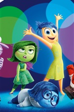 Preview iPhone wallpaper Inside Out, cartoon movie 2015