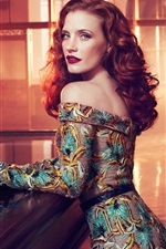 Preview iPhone wallpaper Jessica Chastain 01